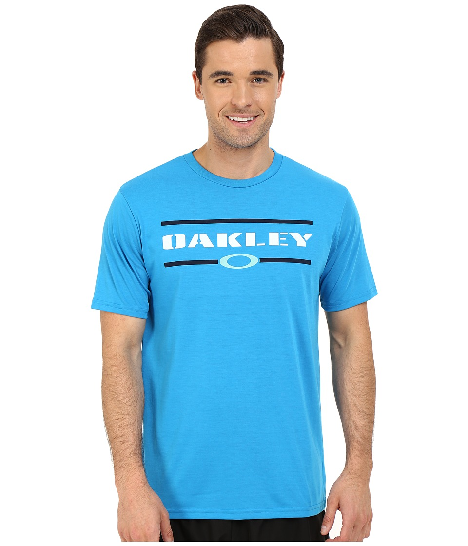 Oakley - O-Stacker Hydrolix Tee (Pacific Blue) Men's T Shirt