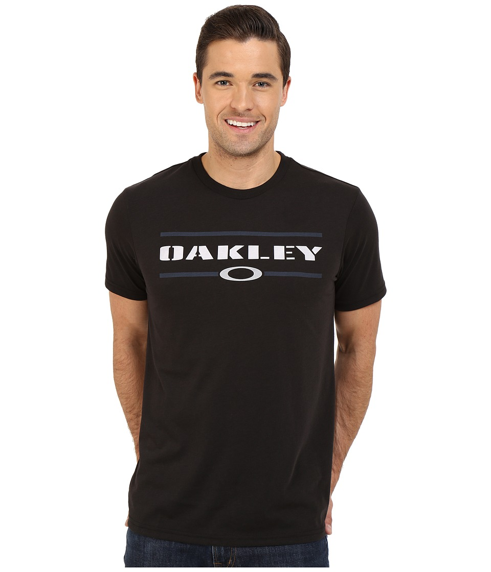 Oakley - O-Stacker Hydrolix Tee (Jet Black) Men's T Shirt