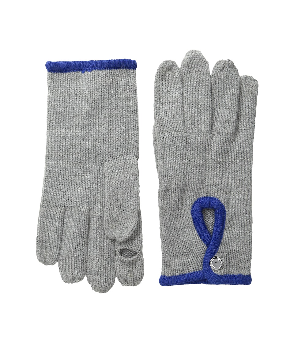 Calvin Klein - Keyhole Glove (Cobalt/Heathered Mid Gray) Extreme Cold Weather Gloves