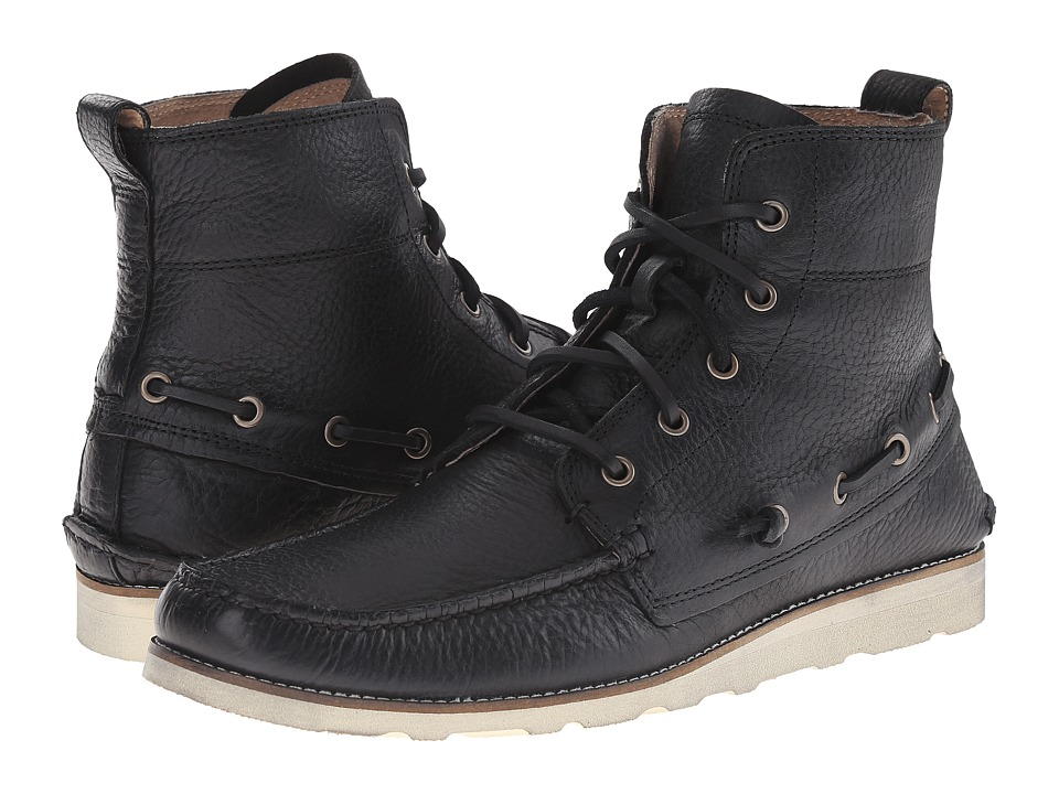 John Varvatos Ligger Boat Boot (Black) Men