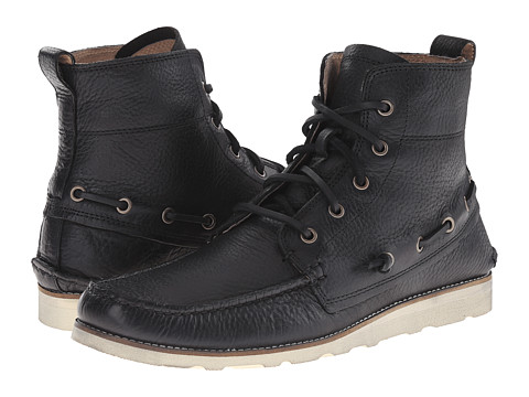 John Varvatos - Ligger Boat Boot (Black) Men