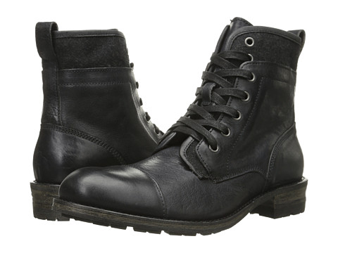 John Varvatos - Lincoln Tahoe Boot (Black) Men's Lace-up Boots