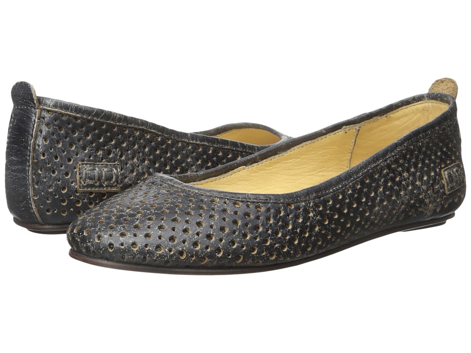 Bed Stu - Watsu (Black Lux Gamuza Gris) Women's Flat Shoes