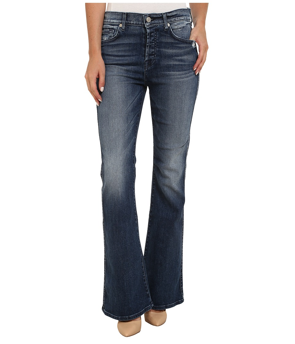 7 For All Mankind - Short Inseam HW Vintage Bootcut Jeans in Lake Blue (Lake Blue) Women's Jeans