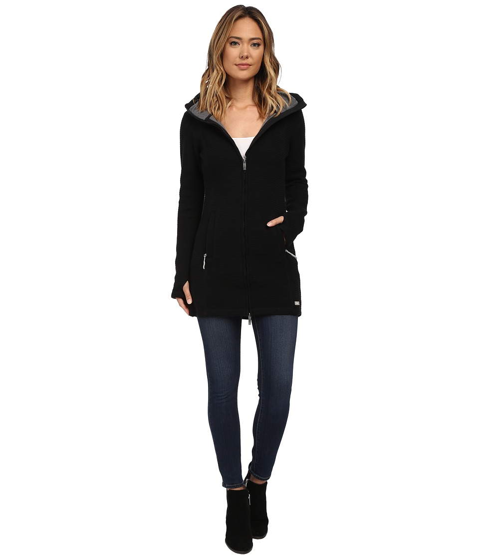 Bench - Loris 11 Long Slim Hoodie (Jet Black) Women's Sweatshirt
