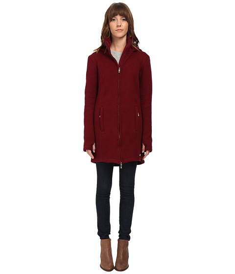 Bench - Loris 11 Long Slim Hoodie (Zinfandel) Women's Sweatshirt