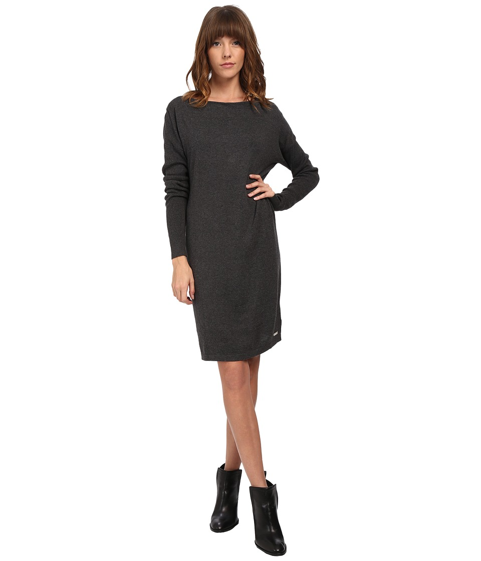 Bench - Transparency Dress (Anthracite Marl) Women's Dress