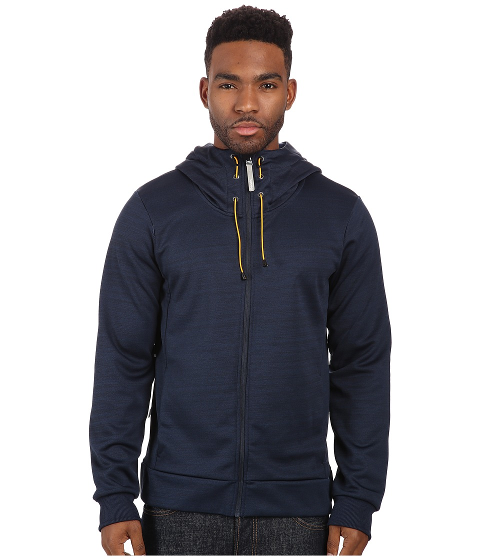 Image of Bench - Attrition Hooded Zip Thru (Total Eclipse Marl) Men's Sweatshirt