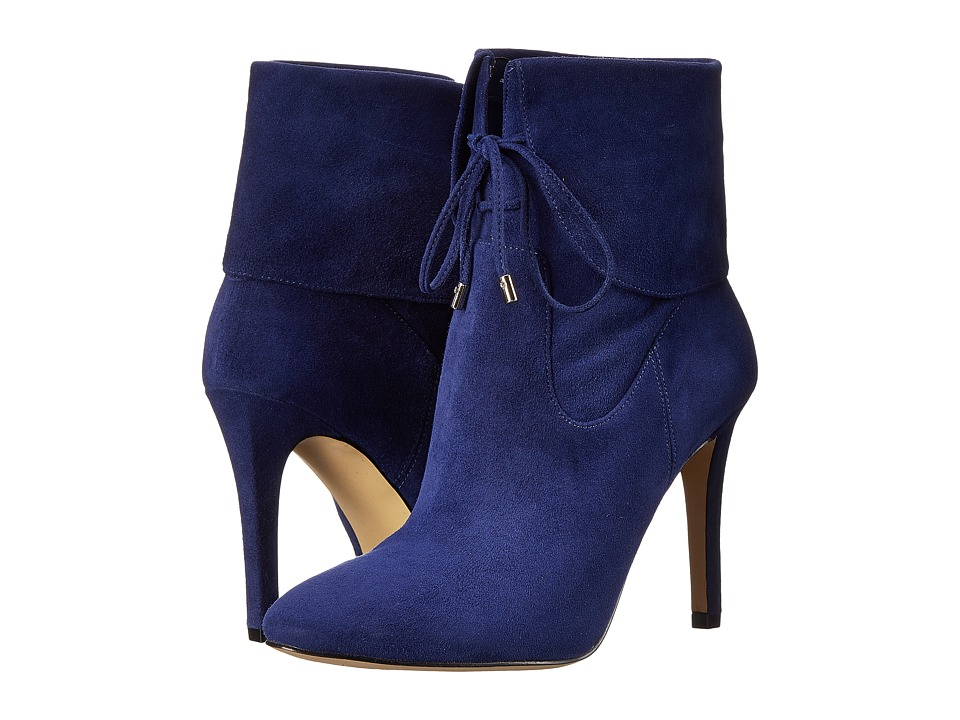 GUESS - Declan (Blue Suede) Women's Lace-up Boots