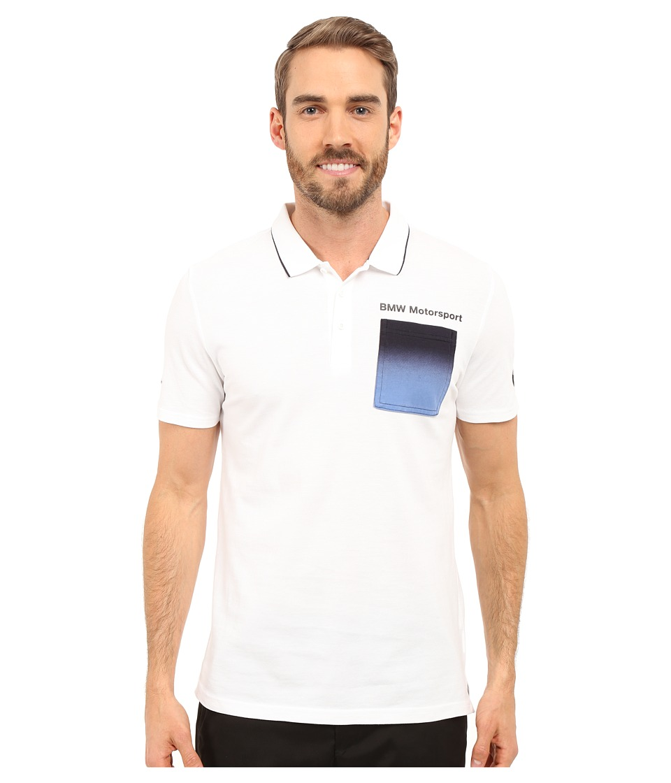 PUMA - Bmw Msp Polo (White 2) Men's Short Sleeve Pullover