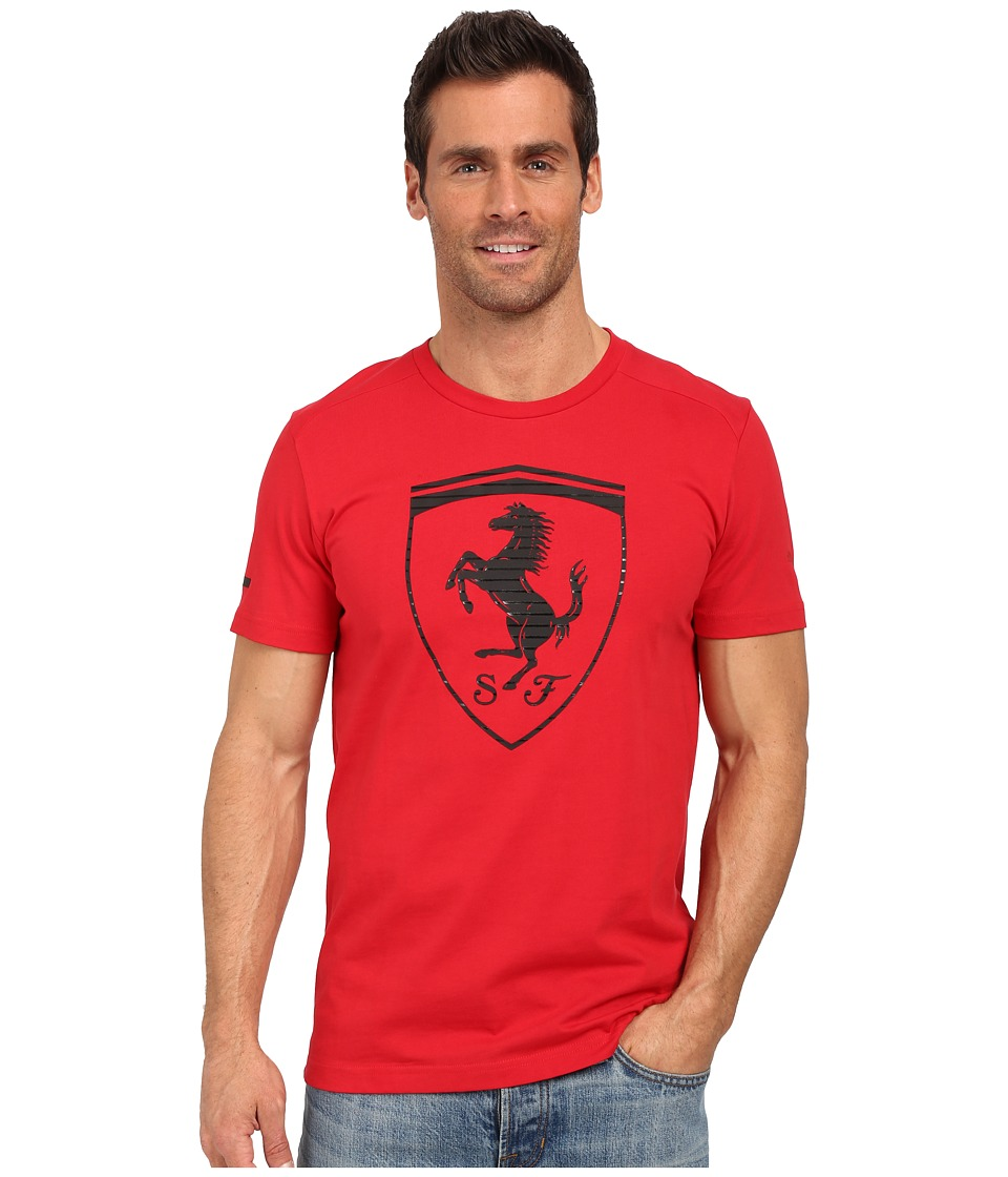 PUMA - Ferrari Big Shield Tee (Rossa Corsa) Men's T Shirt