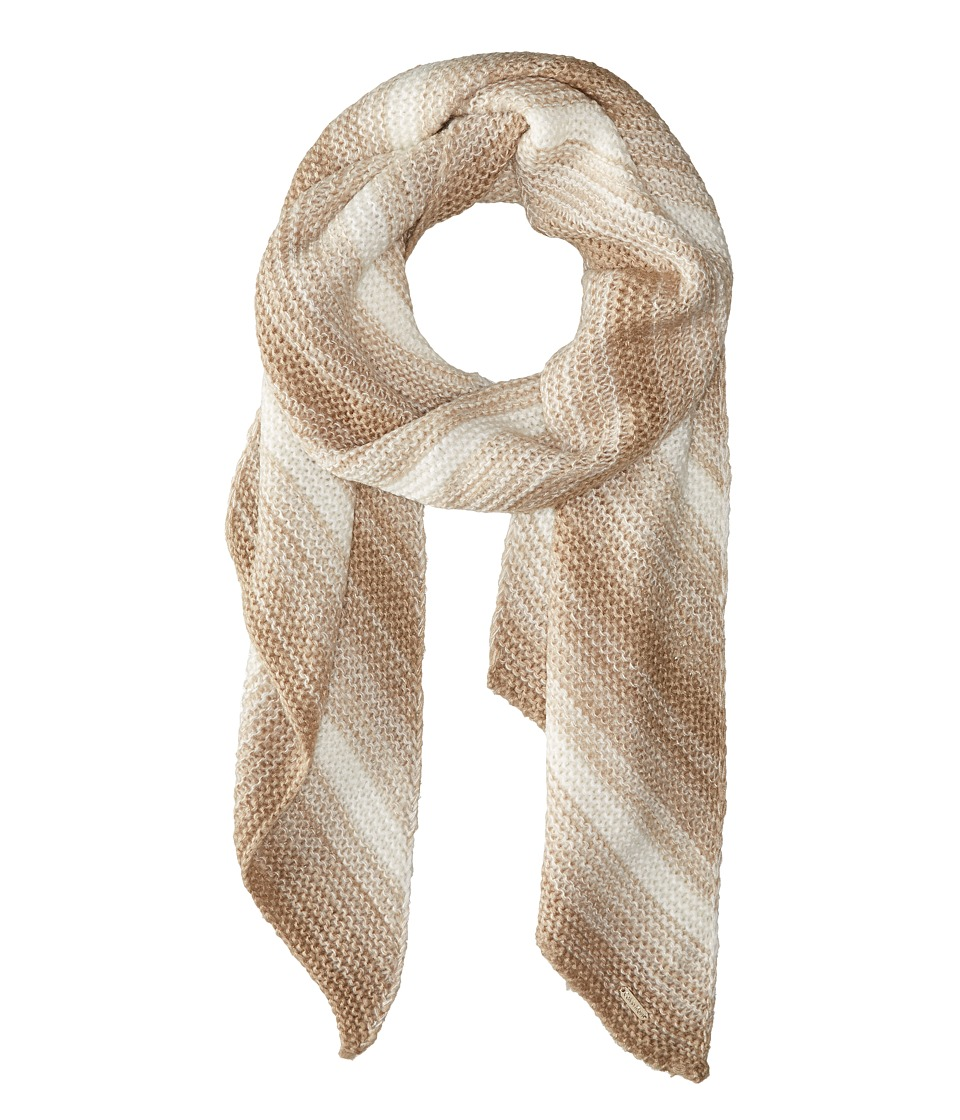Calvin Klein - Marled Angled Edge Scarf (Heathered Almond) Scarves