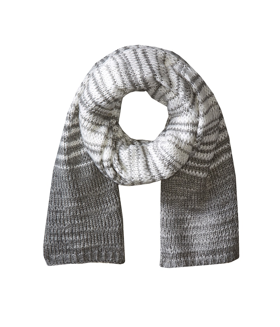 Calvin Klein - Marble Stripe Scarf (Heathered Mid Gray) Scarves