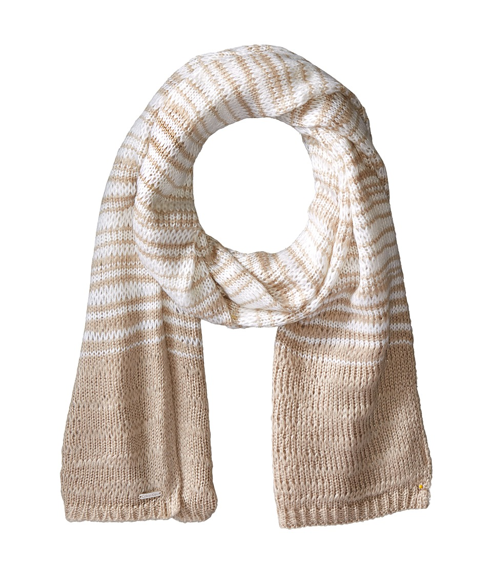 Calvin Klein - Marble Stripe Scarf (Heathered Almond) Scarves
