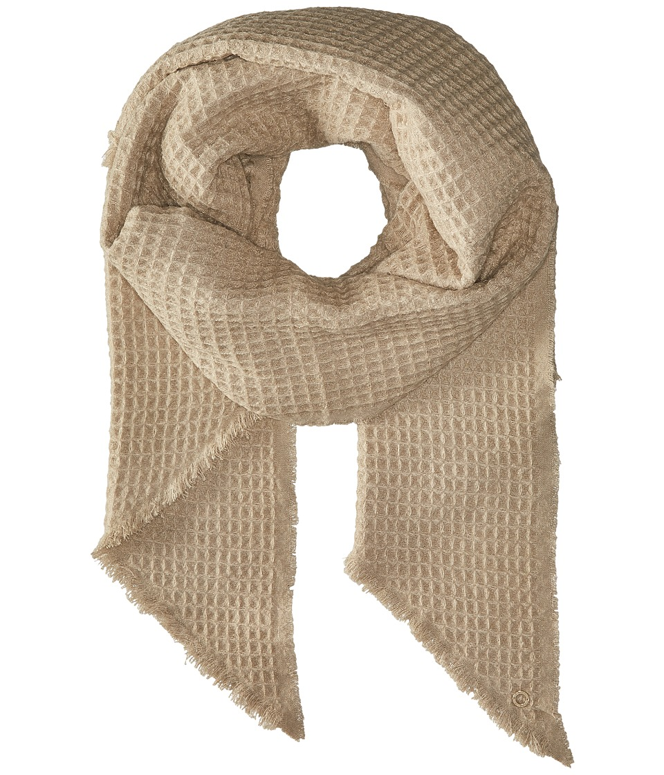 Calvin Klein - Textured Woven Scarf (Heathered Almond) Scarves