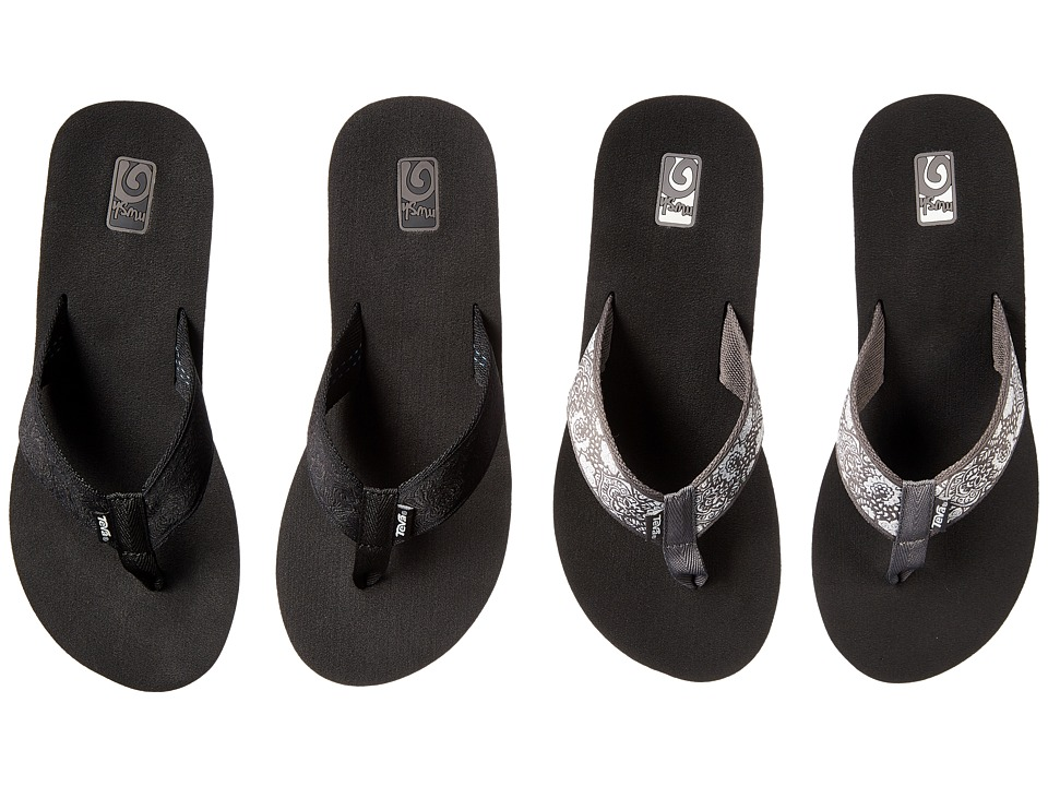 Teva - Mush Mandalyn Wedge Two Pair Pack (Motif Black/Harmony Silver) Women's Sandals
