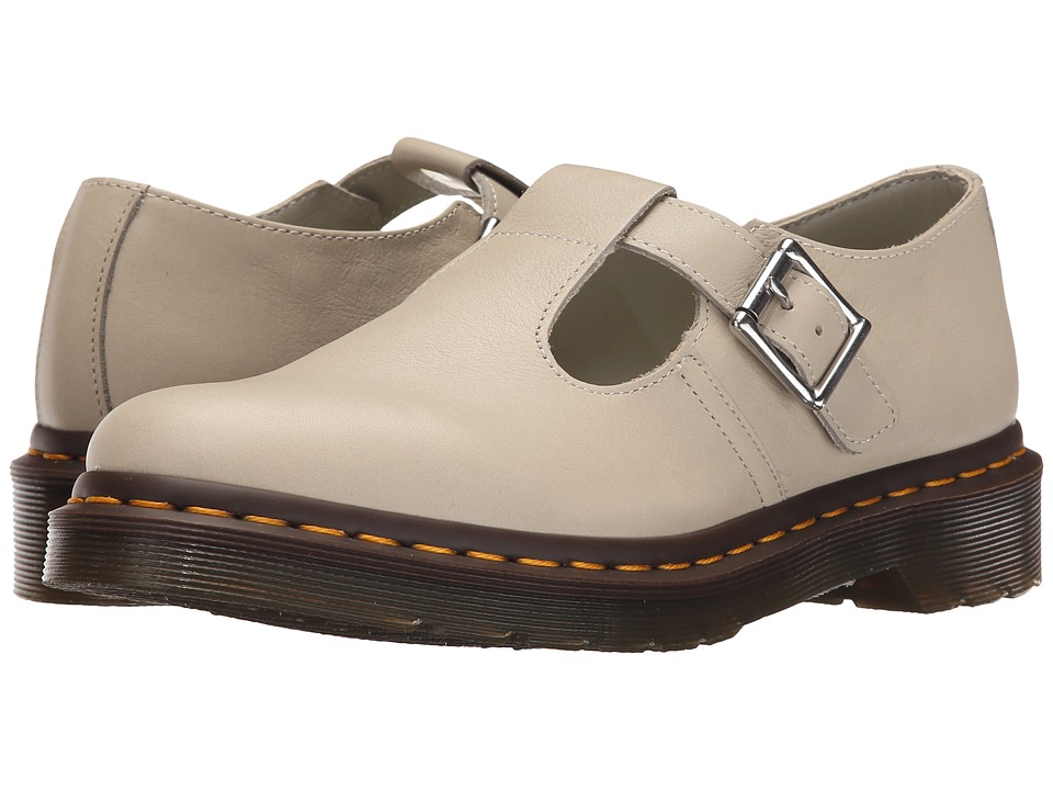 Dr. Martens - Polley T-Bar Mary Jane (Ivory Virginia) Women's Maryjane Shoes