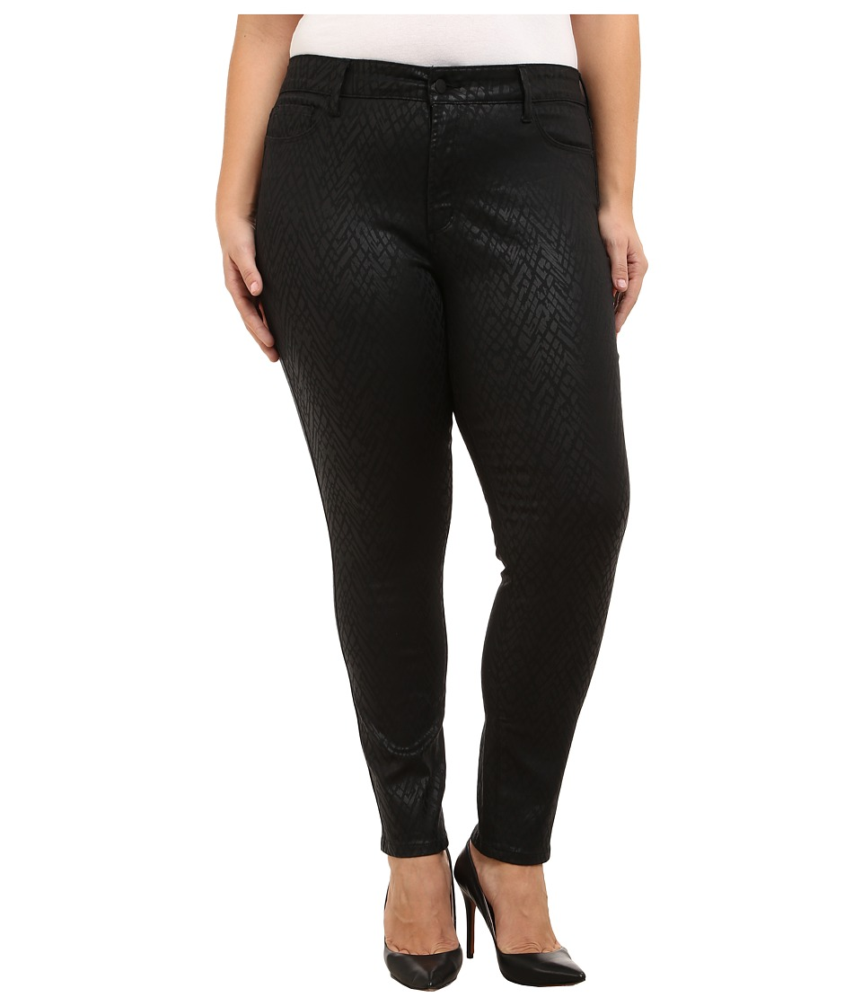 NYDJ Plus Size - Plus Size Alina Legging in Black Coated Chevron (Black Coated Chevron) Women's Jeans
