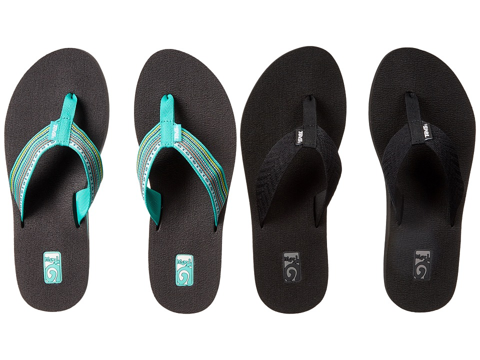 Teva Mush II 2-Pack (Fronds Black/La Manta Multi Teal) Women