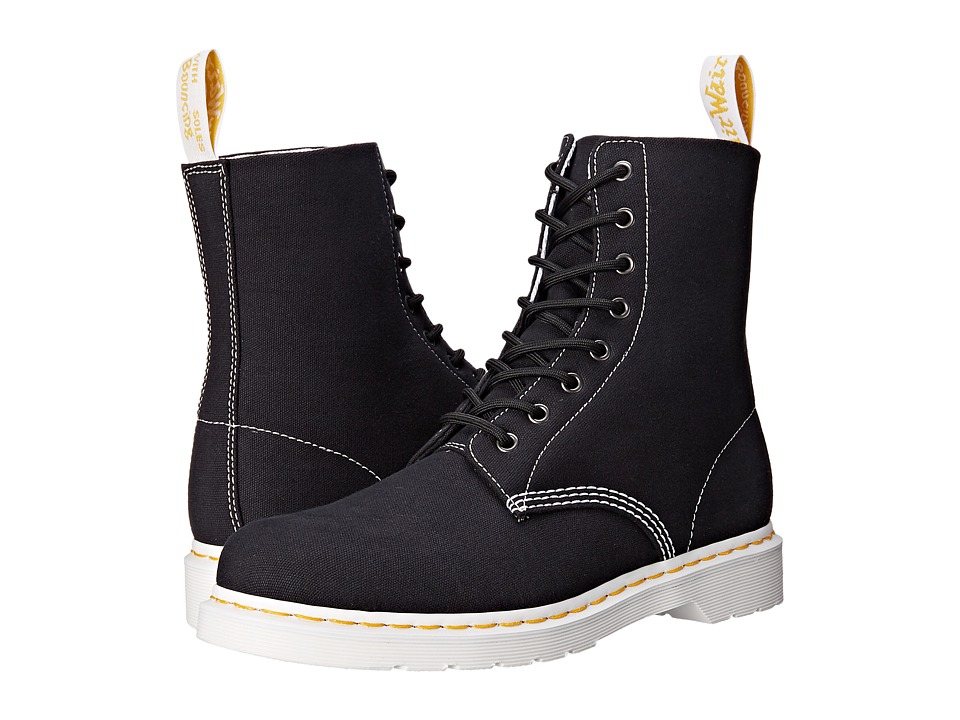 Dr. Martens - Page 8-Eye Boot (Black Canvas) Lace-up Boots