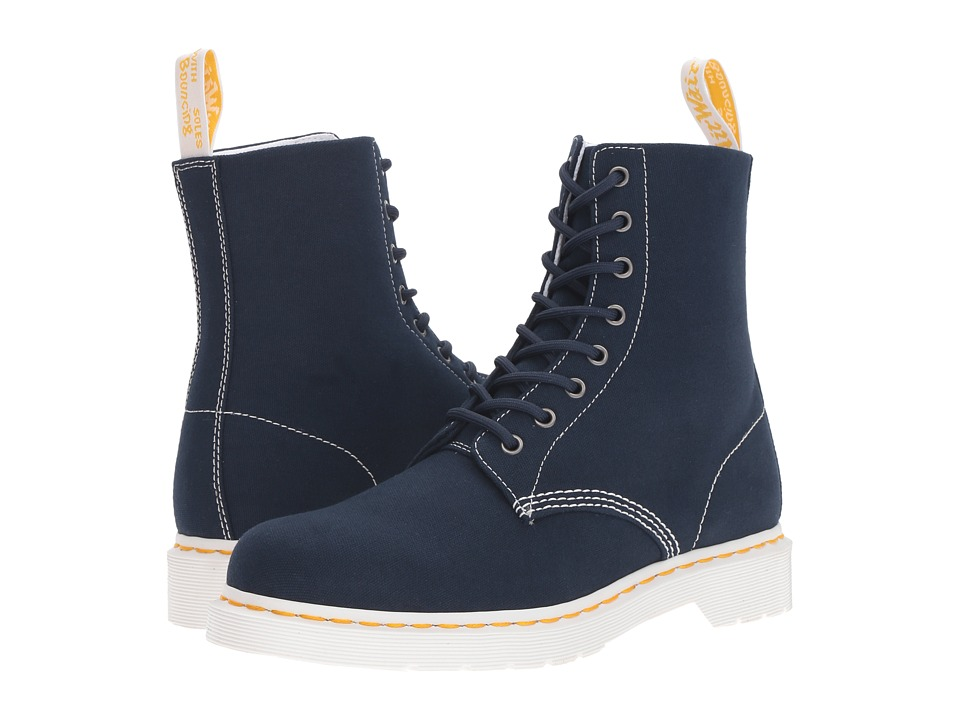 Dr. Martens - Page 8-Eye Boot (Navy Canvas) Lace-up Boots