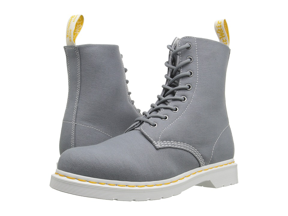 Dr. Martens - Page 8-Eye Boot (Mid Grey Canvas) Lace-up Boots
