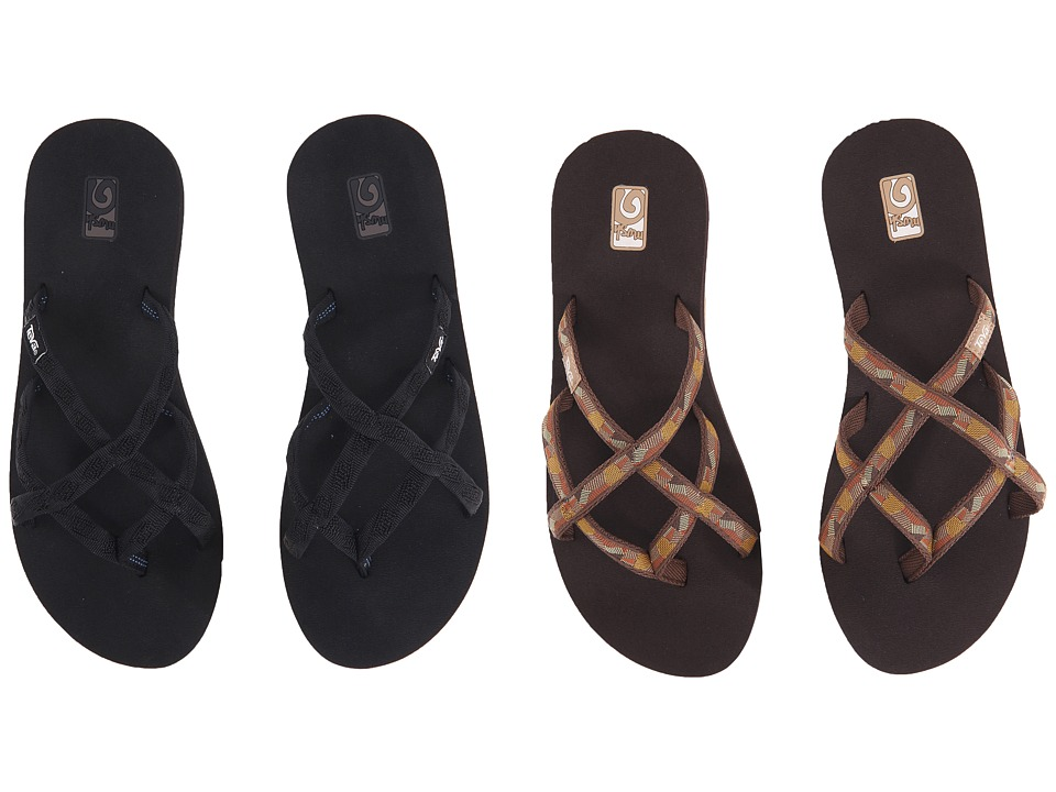 Teva Olowahu 2-Pack (Mbob/Waterfall Golden Brown) Women