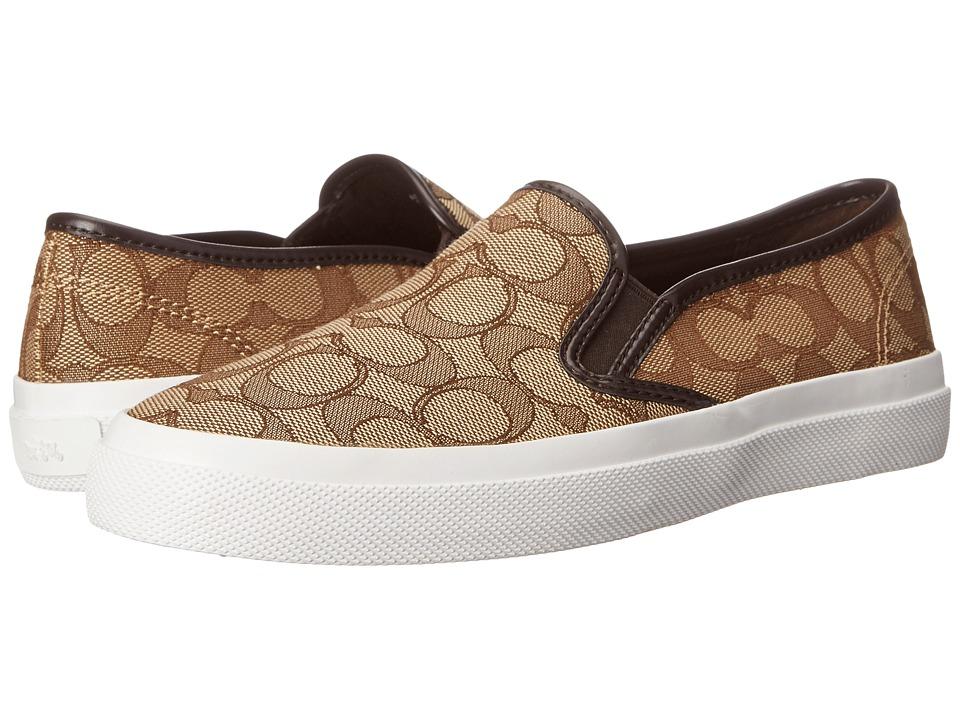 COACH - Chrissy Outline (Khaki/Chestnut Signature C/Nappa) Women's Shoes