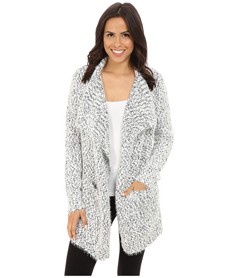 P.J. Salvage - Blk N Blush Cardigan (Black) Women's Sweater