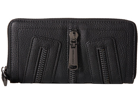 Steve Madden - Zipper Wallet (Black) Wallet Handbags