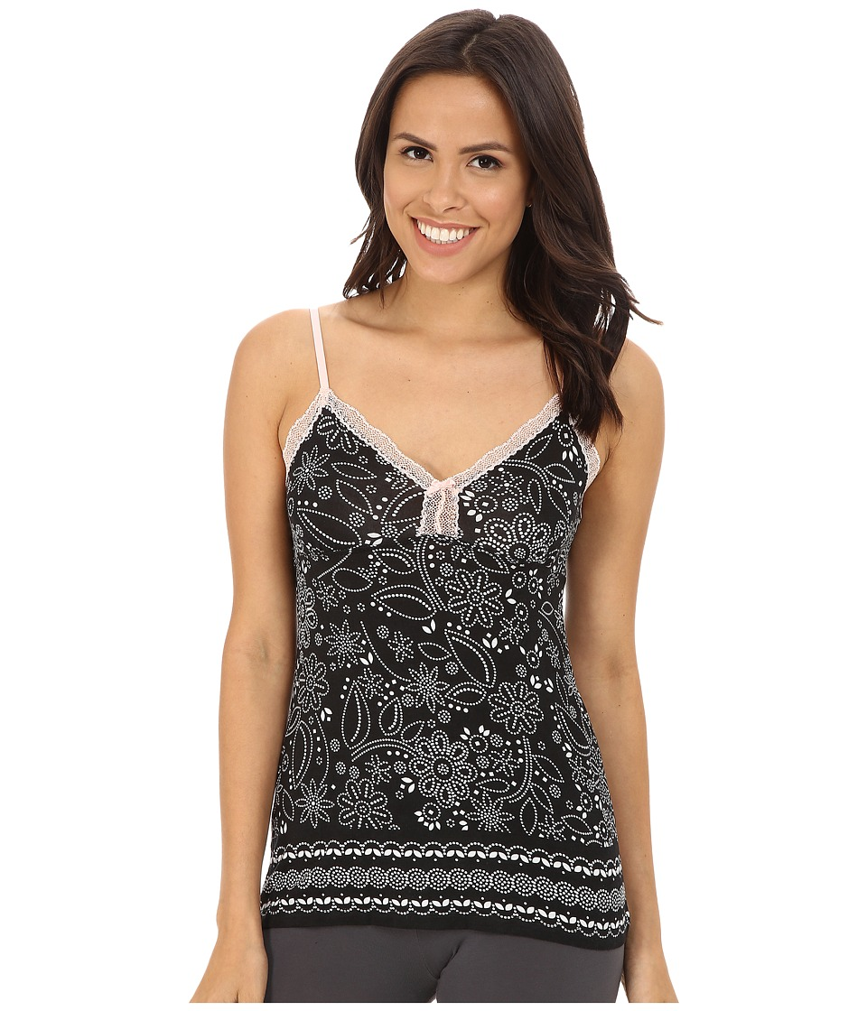 P.J. Salvage - Blk N Blush Sleep Tank Top (Black) Women's Pajama