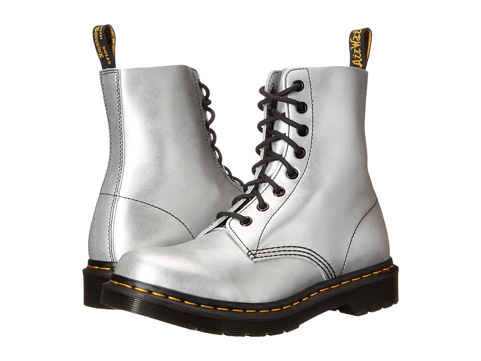 Dr. Martens - Pascal 8-Eye Boot (Silver Alumix) Women's Lace-up Boots
