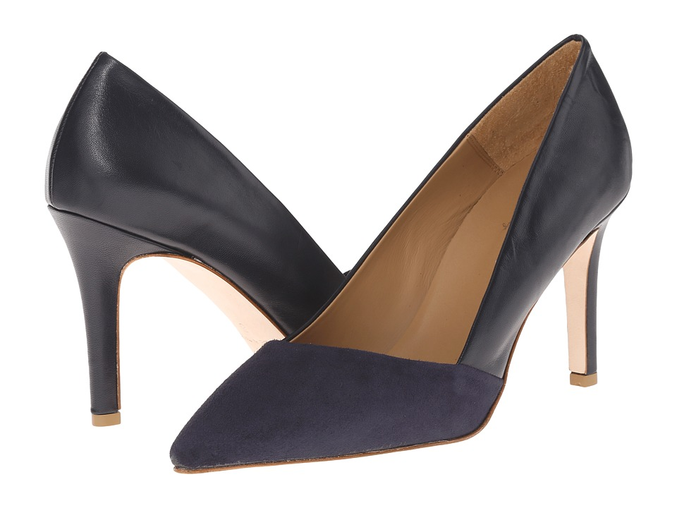 Massimo Matteo Suede and Leather Pump (Blue) Women