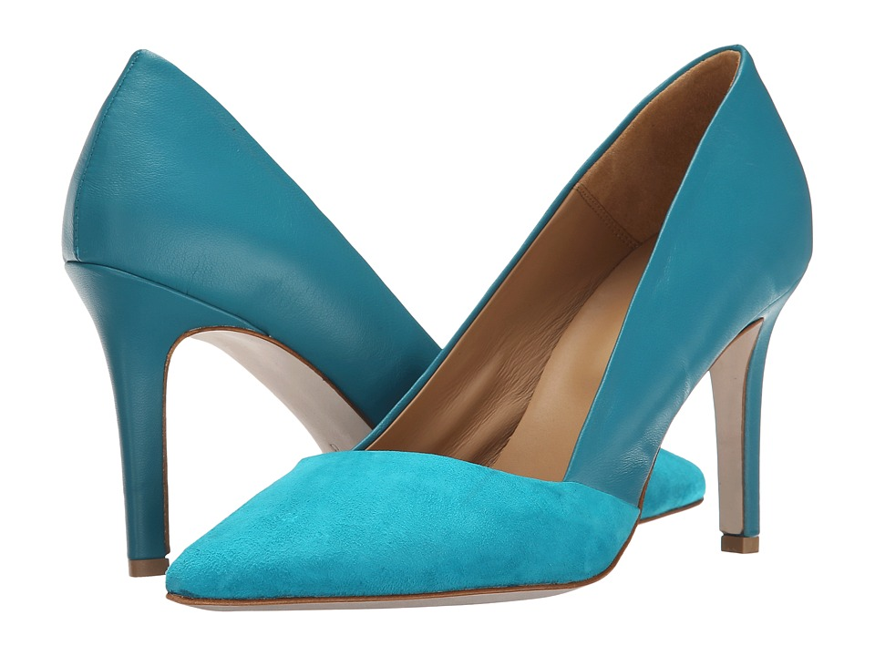 Massimo Matteo - Suede and Leather Pump (Acqua) Women's Shoes