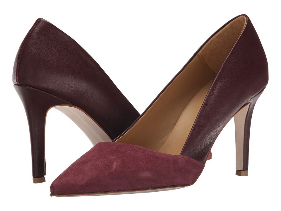 Massimo Matteo Suede and Leather Pump (Cordovan) Women