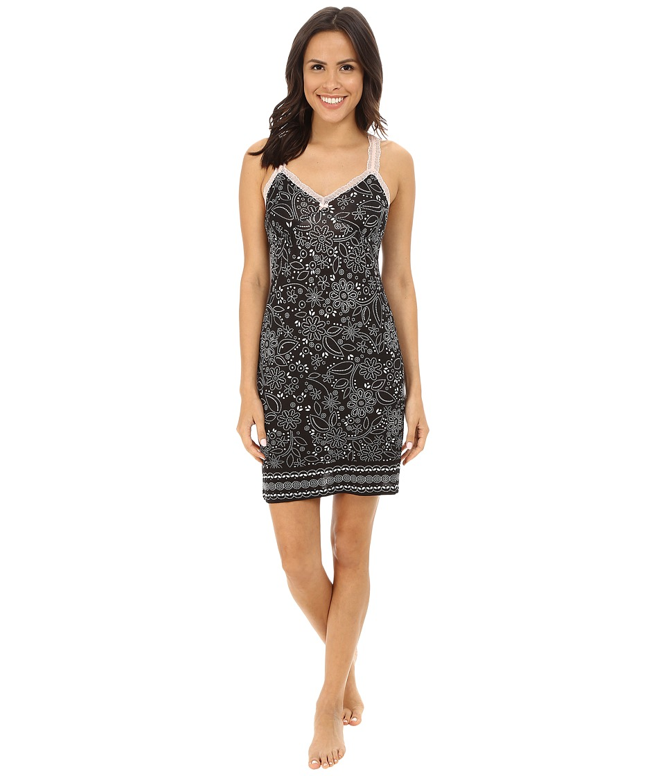 P.J. Salvage - Blk N Blush Sleep Chemise (Black) Women's Pajama
