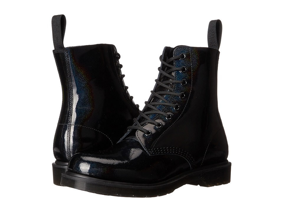 Dr. Martens - Pascal 8-Eye Boot (Black Petrol) Women's Lace-up Boots