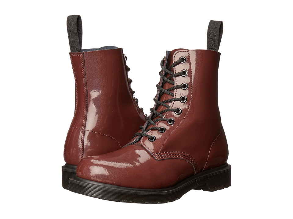 Dr. Martens - Pascal 8-Eye Boot (Oxblood Petrol) Women's Lace-up Boots