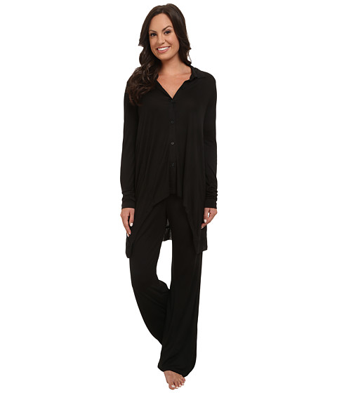 DKNY - Group Long Sleeve Top and Pants Set (Black) Women's Pajama Sets