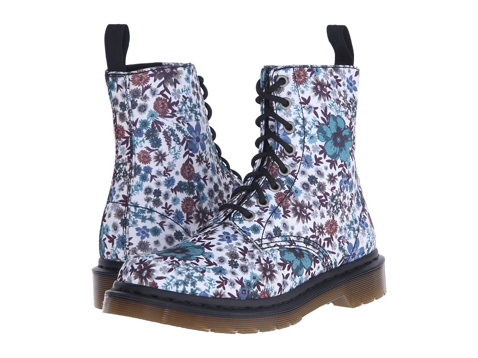 Dr. Martens - Page Wanderlust 8-Eye Boot (Off-White Wanderlust T Canvas) Women's Lace-up Boots