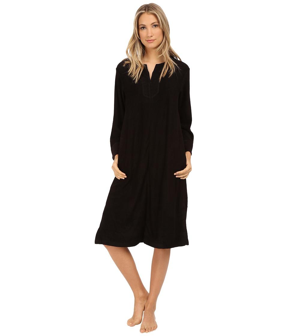 N by Natori - Zip Caftan (Black) Women's Pajama