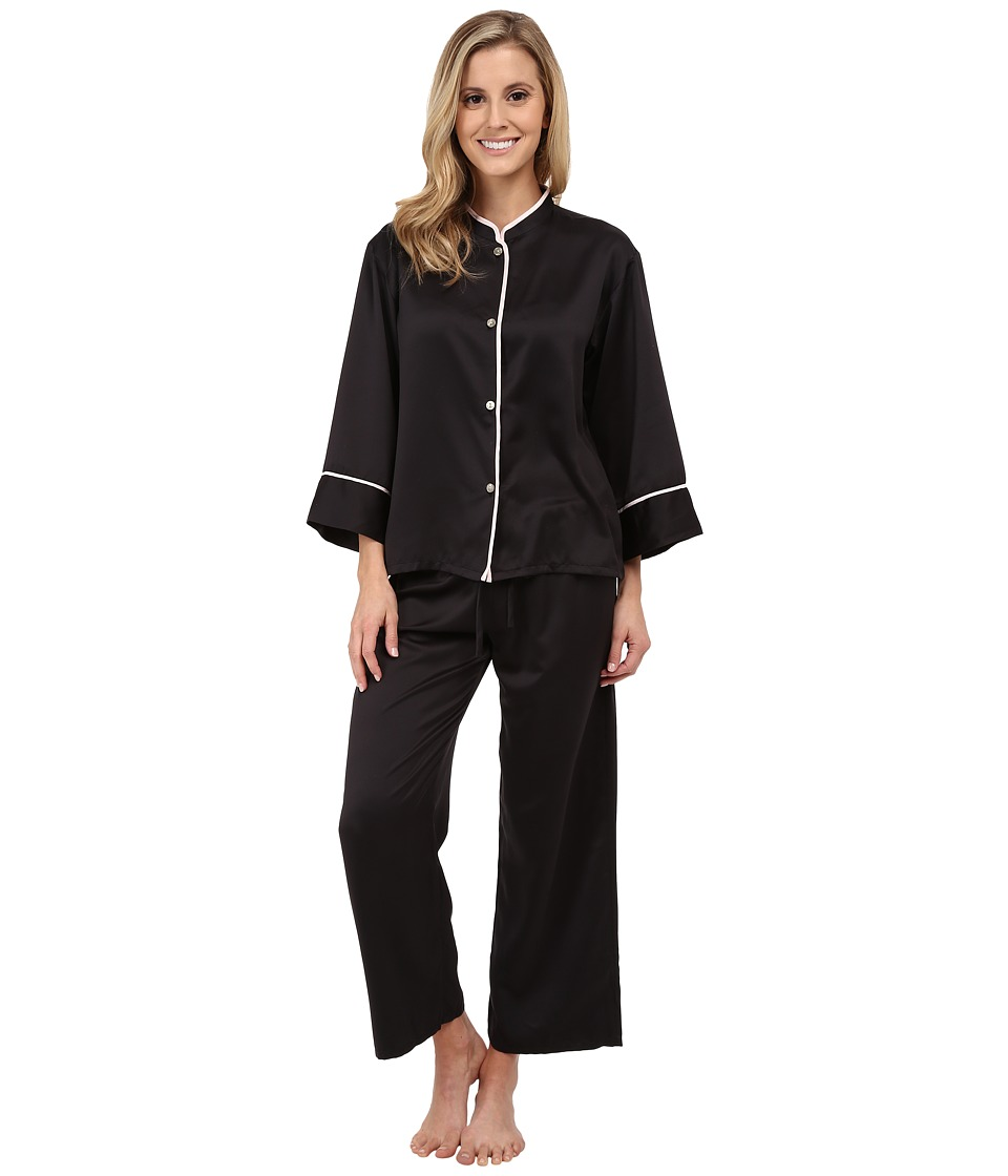 N by Natori - Solid Charm PJ (Black) Women's Pajama Sets