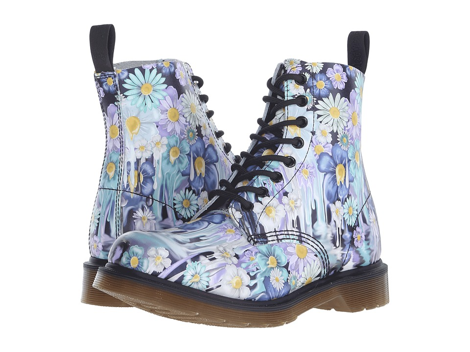 Dr. Martens - Pascal 8-Eye Boot (Purple Paint Slick Backhand) Women's Lace-up Boots