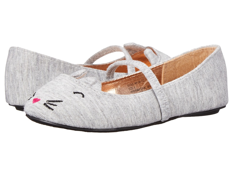 Simply Petals - Meow-TG (Toddler) (Grey) Girl's Shoes