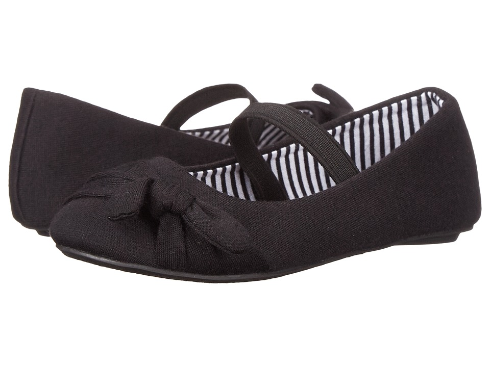 Simply Petals - Lauren-TG (Toddler) (Black) Girl's Shoes
