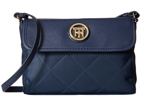 Tommy Hilfiger - Hayden - Quilted Nylon East West Crossbody (Navy) Cross Body Handbags