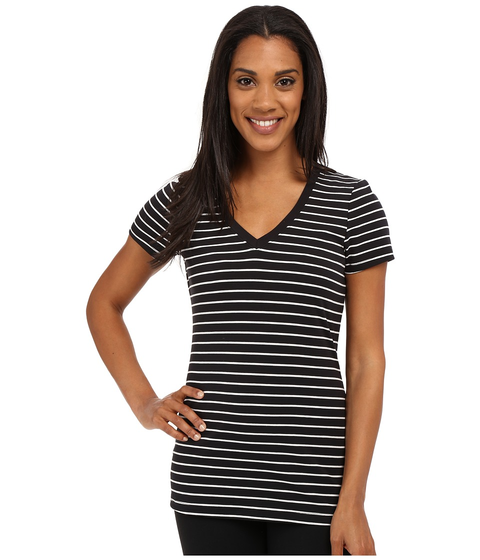 Lole - Belinda T-Shirt (Black Mini Stripes) Women's T Shirt