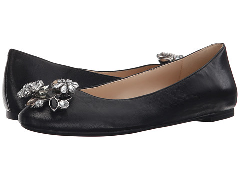 Nine West - Aranella (Black Kid) Women's Slip-on Dress Shoes