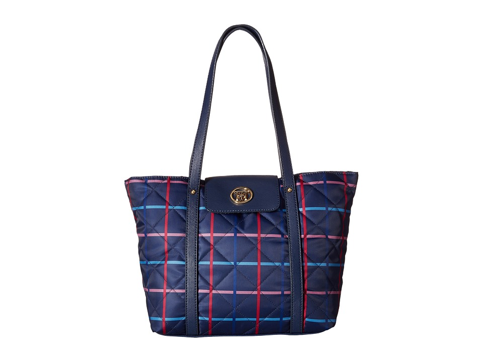 Tommy Hilfiger - Hayden - Quilted Nylon Tote (Navy/Pink) Tote Handbags