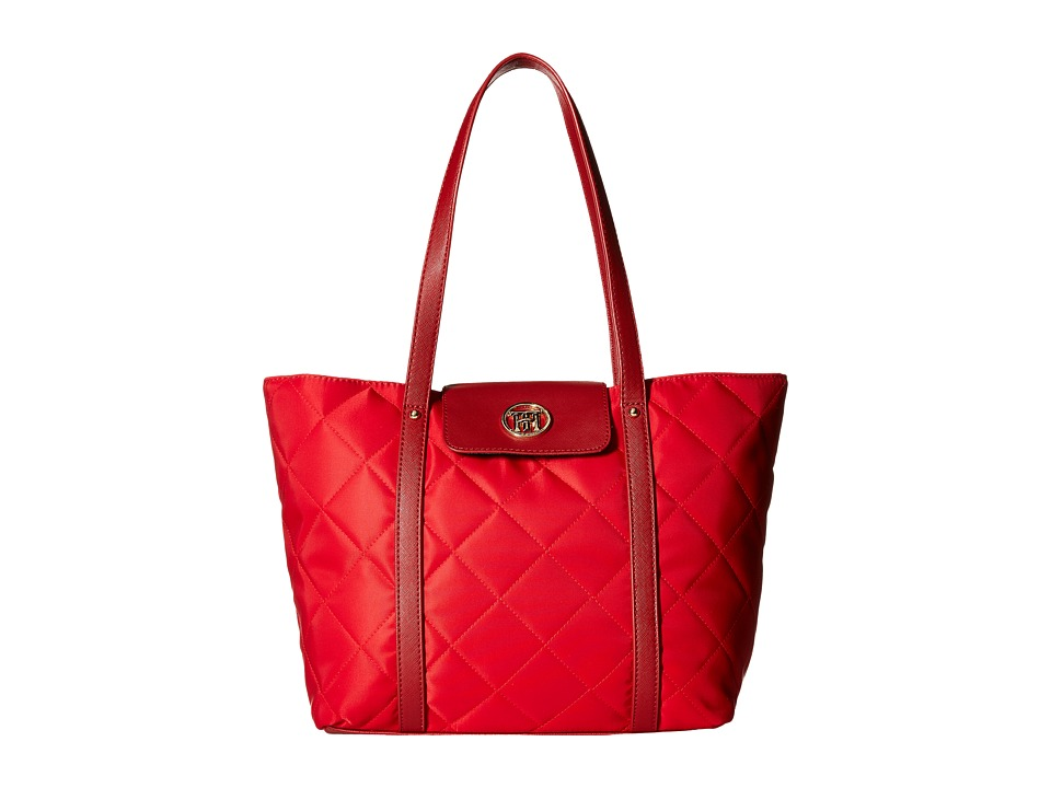 Tommy Hilfiger - Hayden - Quilted Nylon Tote (Red) Tote Handbags